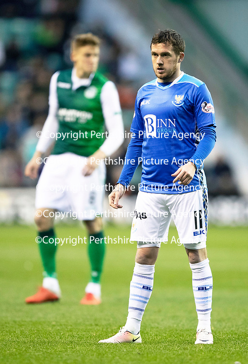 Hibs v St Johnstone…03.11.18…   Easter Road    SPFL<br />Danny Swanson <br />Picture by Graeme Hart. <br />Copyright Perthshire Picture Agency<br />Tel: 01738 623350  Mobile: 07990 594431