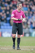 Darren Bond (Referee) during the EFL Sky Bet League 1 match between Oldham Athletic and Bury at Boundary Park, Oldham, England on 11 March 2017. Photo by Mark P Doherty.