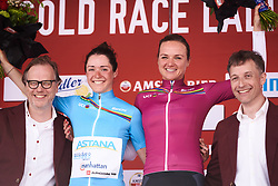 Chantal Blaak (NED) is the new UCI Women's WorldTour leader with Sofia Bertizzolo (ITA) retaining the youth jersey at Amstel Gold Race - Ladies Edition 2018, a 116.9 km road race from Maastricht to Berg en Terblijt on April 15, 2018. Photo by Sean Robinson/Velofocus.com