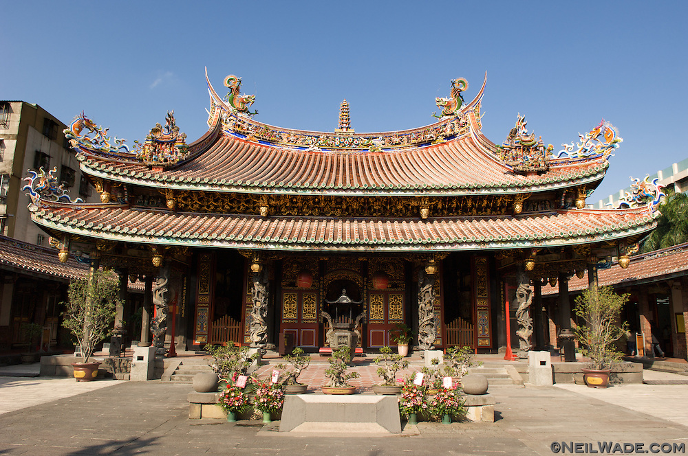 The Boai Daoist Temple in Taipei, Taiwan.