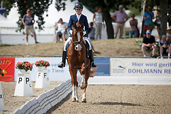 Ignatius Melinda, (FIN), Riverbank Farbenfroh<br /> First Qualifier 5 years old horses<br /> World Championship Young Dressage Horses - Verden 2015<br /> © Hippo Foto - Dirk Caremans<br /> 06/08/15