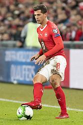 November 12, 2017 - Basel, Schweiz - Basel, 12.11.2017, Fussball WM Qualifikation Playoff, Schweiz - Nordirland, Remo Freuler (SUI) (Credit Image: © Pascal Muller/EQ Images via ZUMA Press)