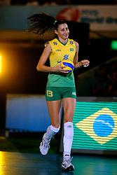 23-08-2009 VOLLEYBAL: WGP FINALS JAPAN - BRAZILIE: TOKYO <br /> Brazilie wint met 3-1 van Japan en zijn de winnaar van de Grand Prix 2009 / Sheilla Castro<br /> ©2009-WWW.FOTOHOOGENDOORN.NL