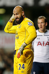 Tim Howard of Everton looks on - Photo mandatory by-line: Rogan Thomson/JMP - 07966 386802 - 30/11/2014 - SPORT - FOOTBALL - London, England - White Hart Lane - Tottenham Hotspur v Everton - Barclays Premier League.