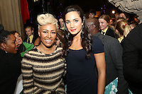 Emeli Sandé and  Laura Wright at the Nordoff-Robbins Carol Service 2012, St Luke's Church, Chelsea, London. Tuesday, Dec 18, 2012 (Photo/John Marshall JME)