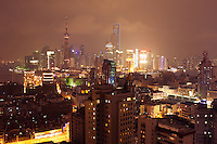 night view over Shanghai China