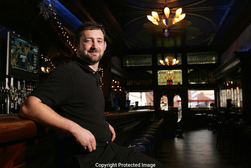 Larry Schulman, bartender at The Elevator.(Jodi Miller/Alive)