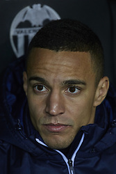 January 9, 2018 - Valencia, Valencia, Spain - Rodrigo Moreno of Valencia CF looks on prior to the Copa del Rey Round of 16, second leg game between Valencia CF and Las Palmas at Mestalla on January 9, 2018 in Valencia, Spain  (Credit Image: © David Aliaga/NurPhoto via ZUMA Press)