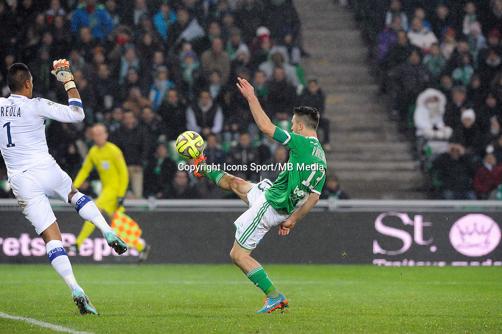 Goal Ricky VAN WOLFSWINKEL - 06.12.2014 - Saint Etienne / Bastia - 17eme journee de Ligue 1 -<br />