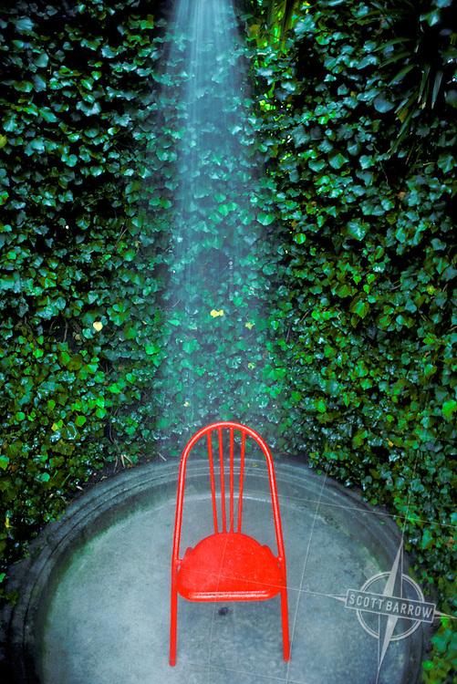Villa Serbelloni, Lake Como, Chair in shower