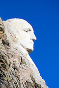 South Dakota SD USA, Mount Rushmore National Monument George Washington  profile.