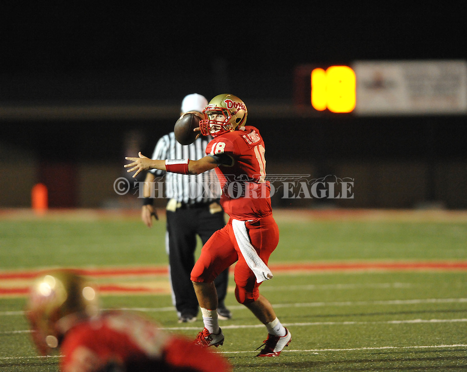 Lafayette High's Devon Thomas (18) vs. Shannon in Oxford, Miss. on Friday, September 19, 2014. Lafayette High won 35-0 to improve to 2-3 on the season.