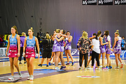 Northern Stars  celebrate. ANZ Premiership Elimination final, Steel v Stars Wednesday 29 May at ILT Stadium Southland, Invercargill,  Invercargill, New Zealand.  © Copyright Photo:  Clare Toia-Bailey / www.photosport.nz