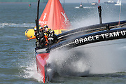 Race 16 of the  34th America's Cup in San Francisco, CA. Charles Hall/CHALLPHOTOS.COM