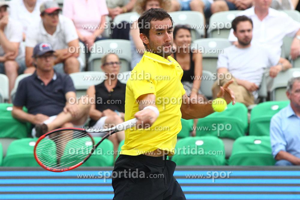 12.06.2015, Tennis Club Weissenhof, Stuttgart, GER, ATP Tour, Mercedes Cup Stuttgart, Viertelfinale, im Bild Marin Cilic ( CRO ) // during quarter Finals of Mercedes Cup of ATP world Tour at the Tennis Club Weissenhof in Stuttgart, Germany on 2015/06/12. EXPA Pictures &copy; 2015, PhotoCredit: EXPA/ Eibner-Pressefoto/ Langer<br /> <br /> *****ATTENTION - OUT of GER*****