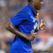 Everton FC Attacker Magaye Gueye #19 running to the corner of the field during the MLS International friendly match between Everton FC of England and DC United...Everton FC Defeated DC United 3-1 Saturday, July 23, 2011, at  RFK Stadium in Washington DC.
