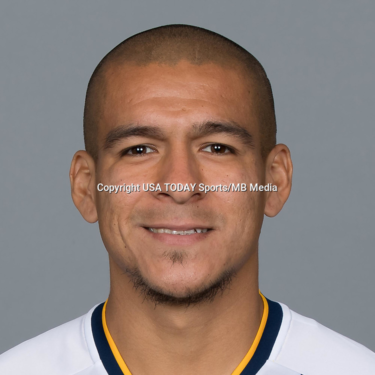 Feb 25, 2017; USA; LA Galaxy player Rafael Garcia poses for a photo. Mandatory Credit: USA TODAY Sports