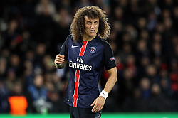 David Luiz of Paris Saint-Germain - Mandatory by-line: Robbie Stephenson/JMP - 06/04/2016 - FOOTBALL - Parc des Princes - Paris,  - Paris Saint-Germain v Manchester City - UEFA Champions League Quarter Finals First Leg