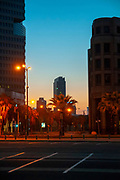Tel Aviv, Israel. Skyline at dawn