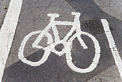 Signage for designated cycle route,