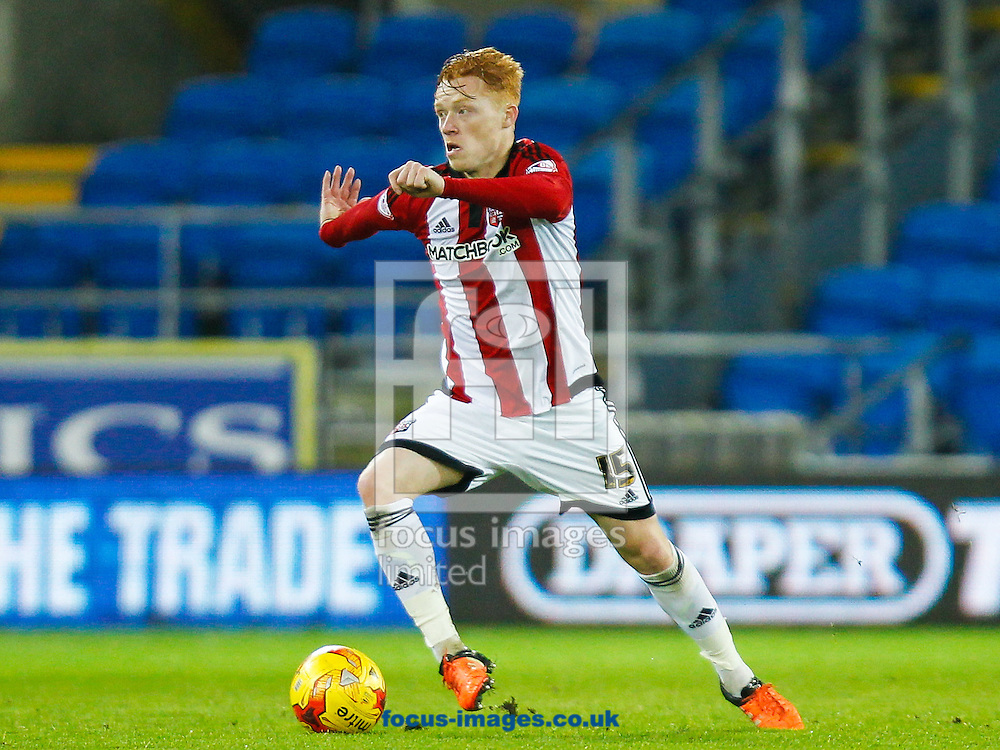 Ryan Woods of Brentford during the Sky Bet Championship match between Cardiff City and Brentford at the Cardiff City Stadium, Cardiff<br /> Picture by Mark D Fuller/Focus Images Ltd +44 7774 216216<br /> 15/12/2015