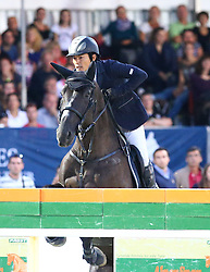 20.09.2014, Magna Racino, Ebreichsdorf, AUT, Vienna Masters 2014, Global Champions Tour Grand Prix, im Bild Toshiki Marui auf Taloubetdarco K Z (JPN) // during Vienna Masters 2014 Global Champions Tour Grand Prix at the Magna Racino, Ebreichsdorf, Austria on 2014/09/20. EXPA Pictures © 2014, PhotoCredit: EXPA/ Thomas Haumer