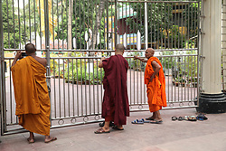 May 10, 2017 - Dhaka, Bangladesh - 10 May 2017, Dhaka, Bangladesh - Buddhists across the Bangladesh are celebrating Buddha Purnima, the biggest religious festival of the community, on 10 May 2017 in the Dhaka, Bangladesh.  Buddha Purnima, the biggest Buddhist festival marks the birth of Gautam Buddha, his attainment of Nirvana and his death anniversary. The occasion is commemorated with peace procession, prayer and distribution of offerings at the temples, on the full moon of the first lunar cycle in the Bengali month of Baishakh.  © Monirul Alam (Credit Image: © Monirul Alam via ZUMA Wire)