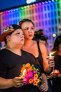 Kellie Edwards during the Equality Florida candle light vigil at Dr. Phillips Center, photo by Roberto Gonzalez Aftermath of the Pulse nightclub shooting in Orlando, Florida.