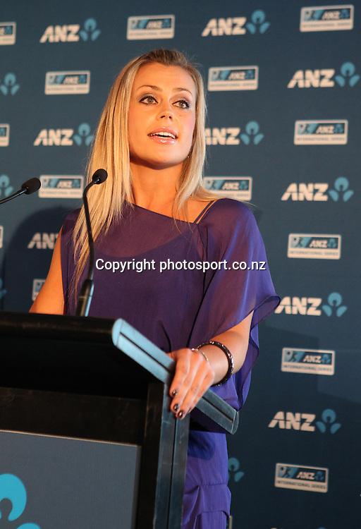 Laura MCGoldrick at the ANZ International Cricket Series Launch at Bellini, Hilton Hotel Auckland, 7 February 2013