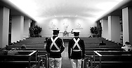 Va Tech cadets guard a reef for the victims in the chapel...photo: Hector Emanuel
