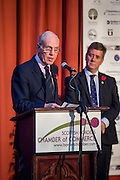 Jack Clark Convenor of SBCC, announcing the winner of the Outstanding Achievement Award. <br />