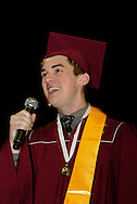 Max Mattingly sings during the Lebanon High School graduation at the Nutter Center in Fairborn, Saturday, May 28, 2011.