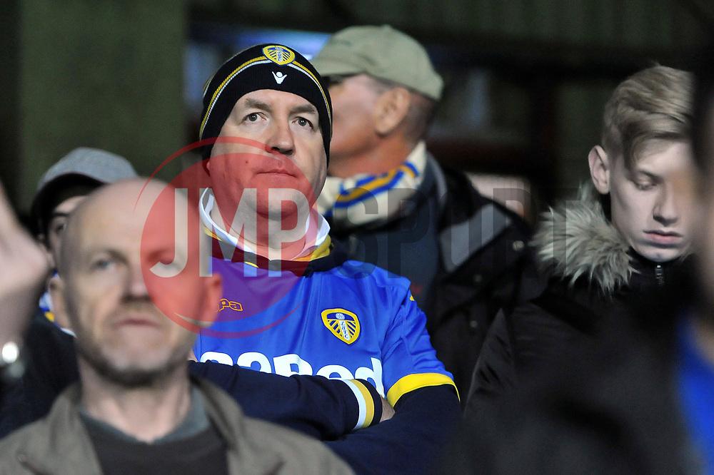 A Leeds United fan looks dejected after the match - Mandatory by-line: Patrick Khachfe/JMP - 04/04/17 - FOOTBALL - Griffin Park - Brentford, London - Brentford v Leeds United - Sky Bet EFL Championship