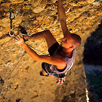 Doug Hunter on The Stoning, 5.13b, Maple Canyon, Utah