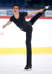 03.12.2015, Dom Sportova, Zagreb, CRO, ISU, Golden Spin of Zagreb, Kurzprogramm Herren, im Bild Mattia Dalla Torre, Italy // during the 48th Golden Spin of Zagreb 2015 Male Short Program of ISU at the Dom Sportova in Zagreb, Croatia on 2015/12/03. EXPA Pictures © 2015, PhotoCredit: EXPA/ Pixsell/ Igor Kralj<br /> <br /> *****ATTENTION - for AUT, SLO, SUI, SWE, ITA, FRA only*****