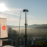 An auspicious start to the day, with the rising sun lighting up the Japanese flag ahead of the WEC Spa 6 Hours race. The FIA hosts round two of the 2017 World Endurance Championship at the Spa Francorchamps Circuit in Belgium