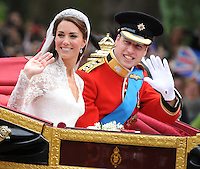 LONDON, UK: The Wedding of Prince William and Kate Middleton in London on the 29th April 2011.<br /> PHOTOGRAPH BY JAMES WHATLING