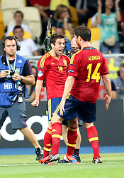 01.07.2012, Olympia Stadion, Kiew, UKR, UEFA EURO 2012, Spanien vs Italien, Finale, im Bild, JORDI ALBA SPA GOL GOAL BRAMKA RADOSC // JORDI ALBA SPA  GOL GOAL BRAMKA RADOSC // during the UEFA Euro 2012 Final Match between Spain and Italy at the Olympic Stadium, Kiev, Ukraine on 2012/07/01. EXPA Pictures © 2012, PhotoCredit: EXPA/ Newspix/ Michael Nowak..***** ATTENTION - for AUT, SLO, CRO, SRB, SUI and SWE only *****