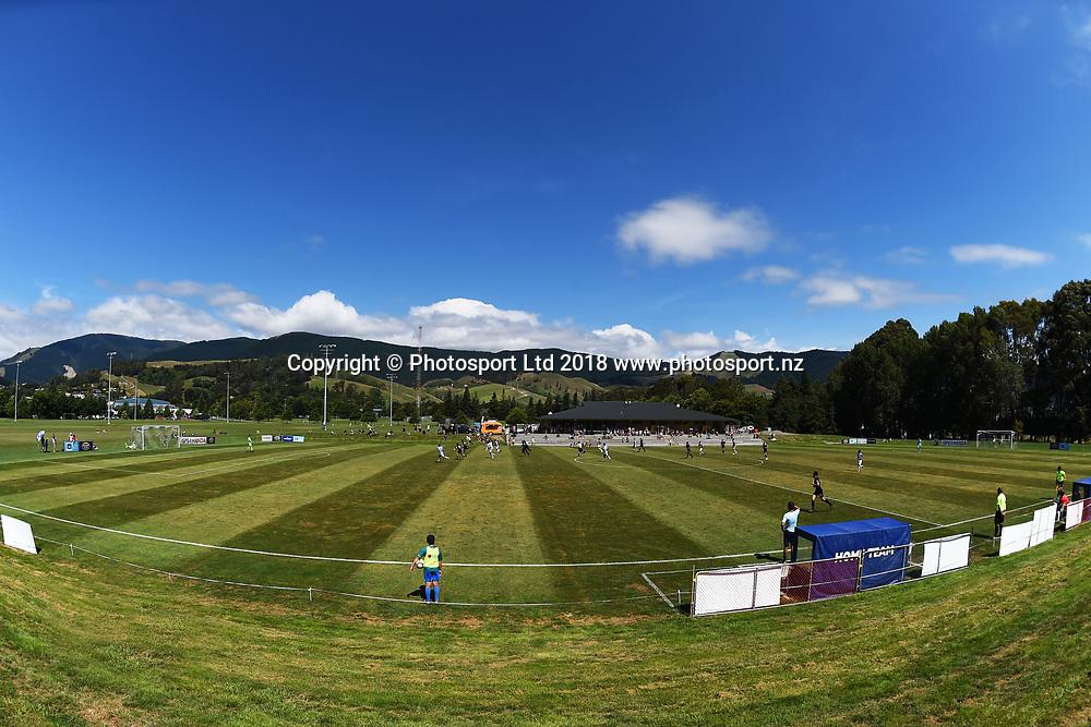 General view of Saxton Field during their ISPS Handa Premiership match Tasman Utd v Team Wellington. Saxton Field, Nelson, New Zealand. Saturday 27 January 2018. ©Copyright Photo: Chris Symes / www.photosport.nz