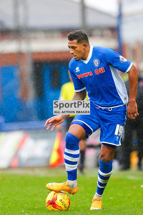 Nathaniel Mendez-Laing during Rochdale v Wigan Athletic , Sky Bet League One Match, 14 November 2015<br /> Picture by Jackie Meredith/SportPix.org.uk