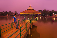 Evening, Pier at Jong Kham Lake, Mae Hong Son, Thailand