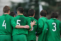 Team of Slovenia during Friendly match between U-21 National teams of Slovenia and Romania, on February 11, 2009, in Nova Gorica, Slovenia. (Photo by Vid Ponikvar / Sportida)