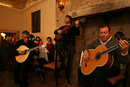 "Manager, composer, singer and player Jorge Fernando has been contribuing deeply  for the interest that Fado music  is gaining again in younger generations. Here he is performing in ""Bacalhau de Molho"" restaurant."