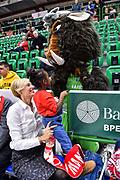 Tifosi Baxi Manresa, Sirbo Mascotte<br /> Banco di Sardegna Dinamo Sassari - Baxi Manresa<br /> FIBA Basketball Champions League BCL 2019-2020<br /> Sassari, 03/12/2019<br /> Foto L.Canu / Ciamillo-Castoria