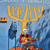 Calaveras y Diablitos Mural in Arica, Chile<br />