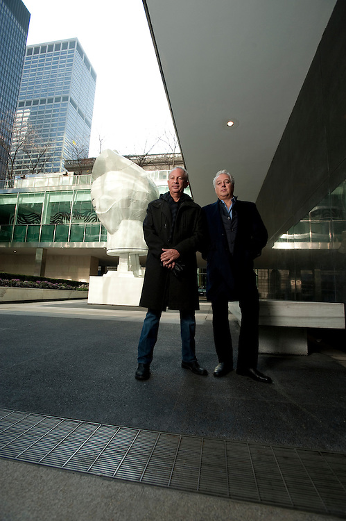 David Edelstein and Aby Rosen at Lever House
