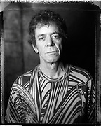 Lou Reed at Lit bar in NYC during an interview and cover shoot with the Strokes for Filter Magazine in 2004.