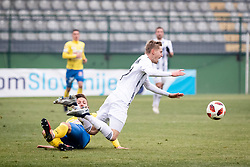 Fould on Karničnik Žan of NŠ Mura during football match between NŠ Mura and NK Celje in 18th Round of Prva liga Telekom Slovenije 2018/19, on December 2, 2018 in Fazanerija, Murska Sobota, Slovenia. Photo by Blaž Weindorfer / Sportida