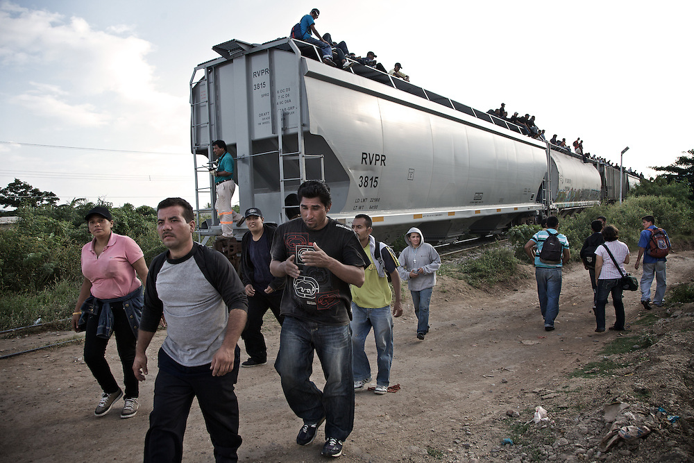 "Migrants from Central America down to ""the Beast"".Ixtepec railway station. Oxaca-Mexico,2011"