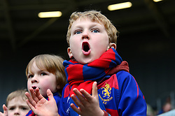 A young Bristol Rugby fan cheers on his side as Bristol Rugby play Bath Rugby - Mandatory by-line: Dougie Allward/JMP - 26/02/2017 - RUGBY - Ashton Gate - Bristol, England - Bristol Rugby v Bath Rugby - Aviva Premiership